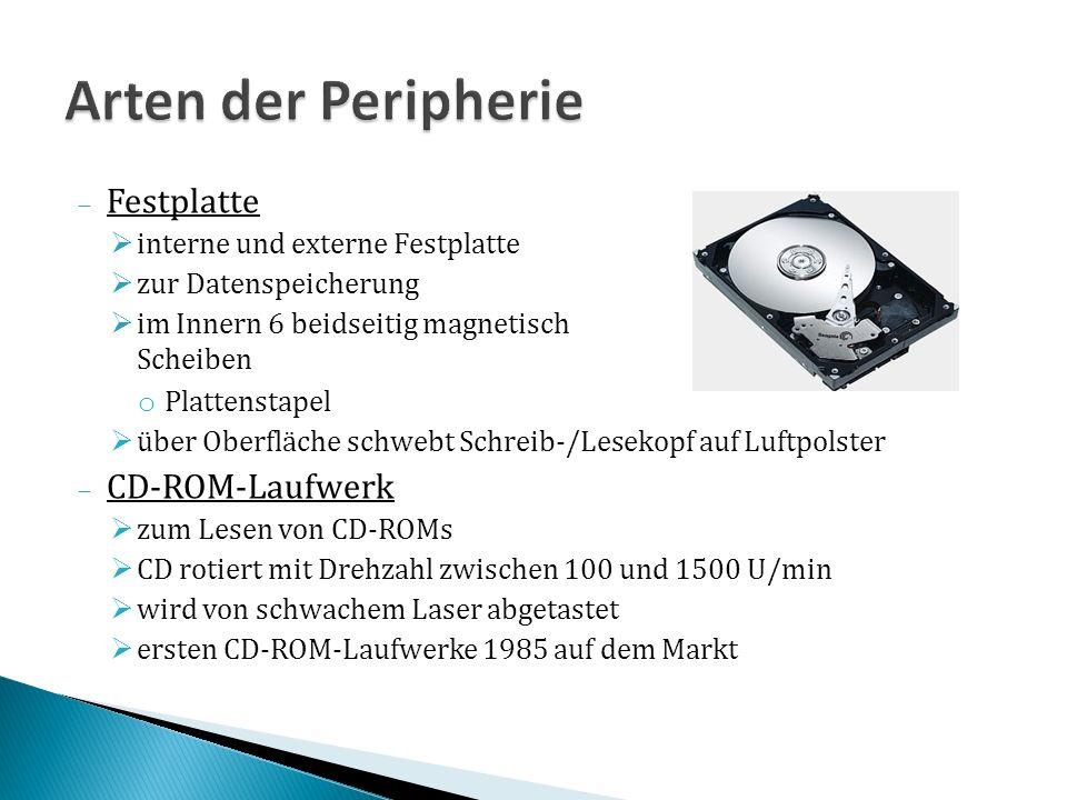 Festplatte interne und externe Festplatte zur Datenspeicherung im Innern 6 beidseitig magnetisch beschichtete Scheiben o Plattenstapel über Oberfläche