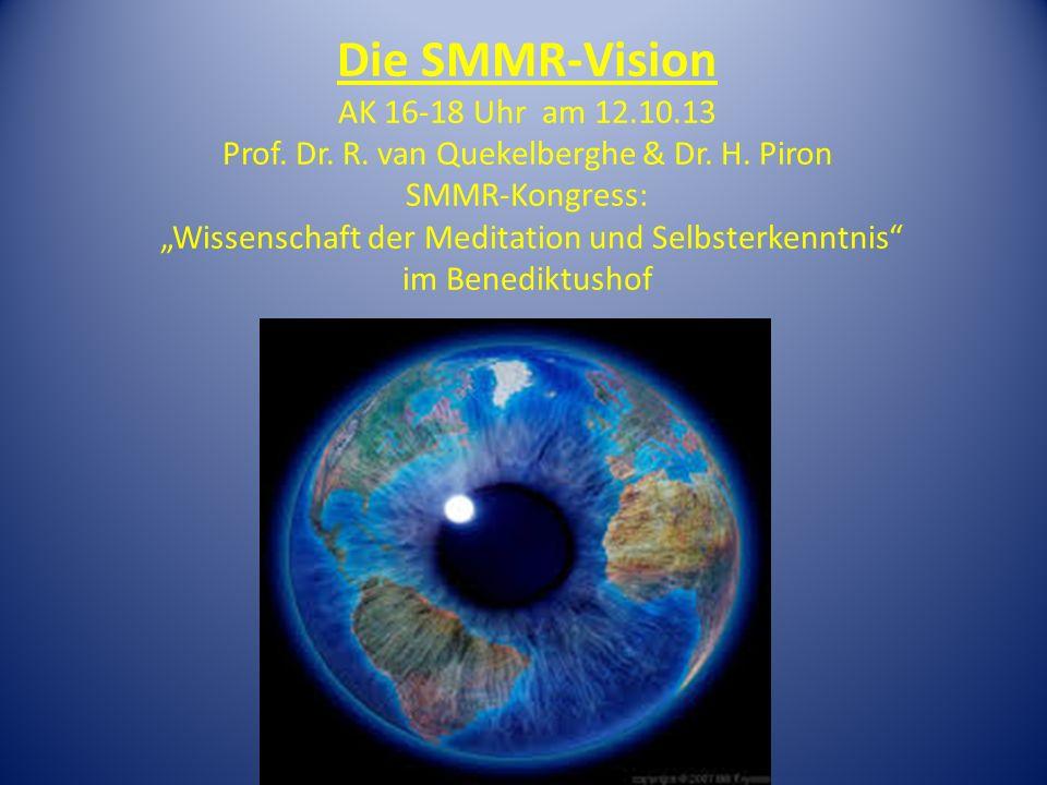 Gliederung des AK SMMR-Vision 1.Präsentation der SMMR Fragen und Diskussion 2.