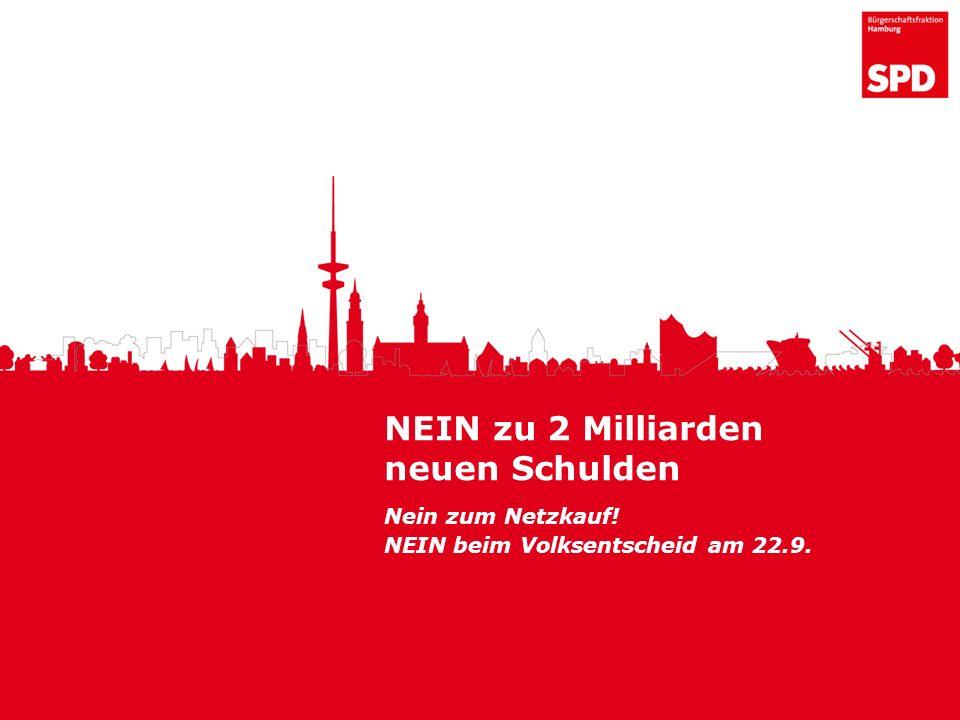 NEIN zu 2 Milliarden neuen Schulden Nein zum Netzkauf! NEIN beim Volksentscheid am 22.9.