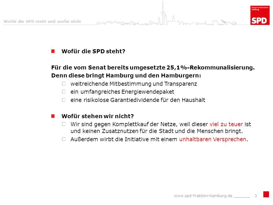 Wofür die SPD steht und wofür nicht Wofür die SPD steht.