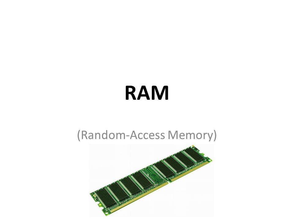 Inhaltsverzeichnis Erklärung (Was ein RAM ist?) Ansteuerung von RAM-Chips – Steuerleitungen – Adressierung – Datenleitungen Die verschieden Arten von RAMs
