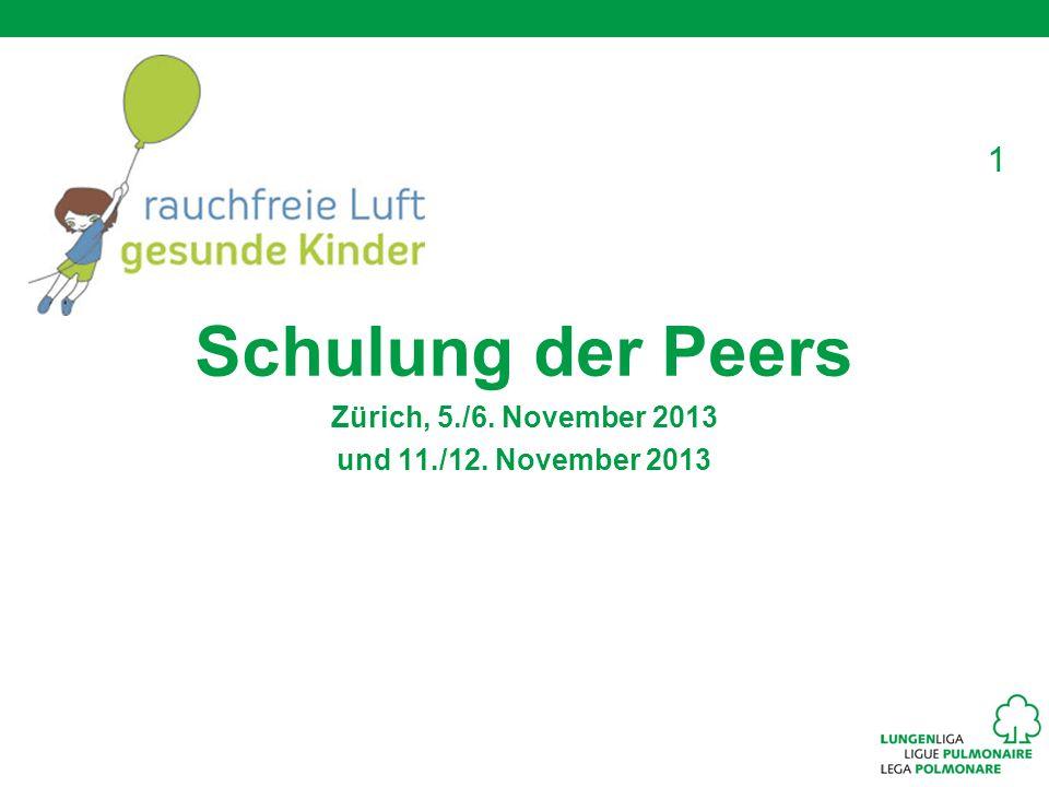 1 Schulung der Peers Zürich, 5./6. November 2013 und 11./12. November 2013