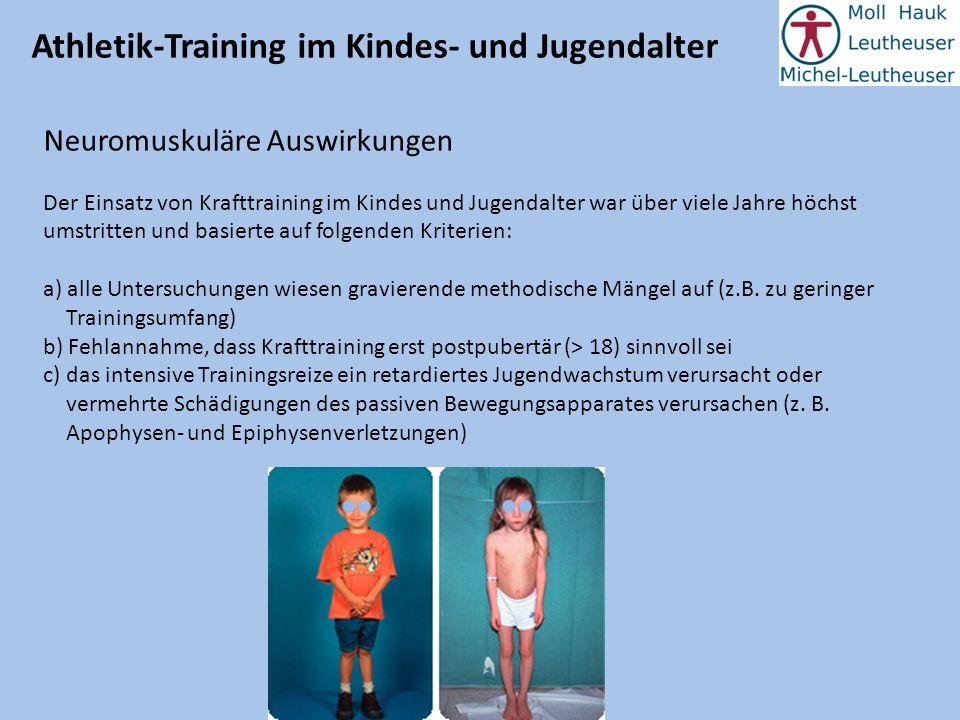 Athletik-Training im Kindes- und Jugendalter Neuromuskuläre Auswirkungen Tatsache ist jedoch, dass bei Kindern beim Spielen Sprungbelastungen bis zum achtfachen des Körpergewichts auf den Bewegungsapparat einwirken.