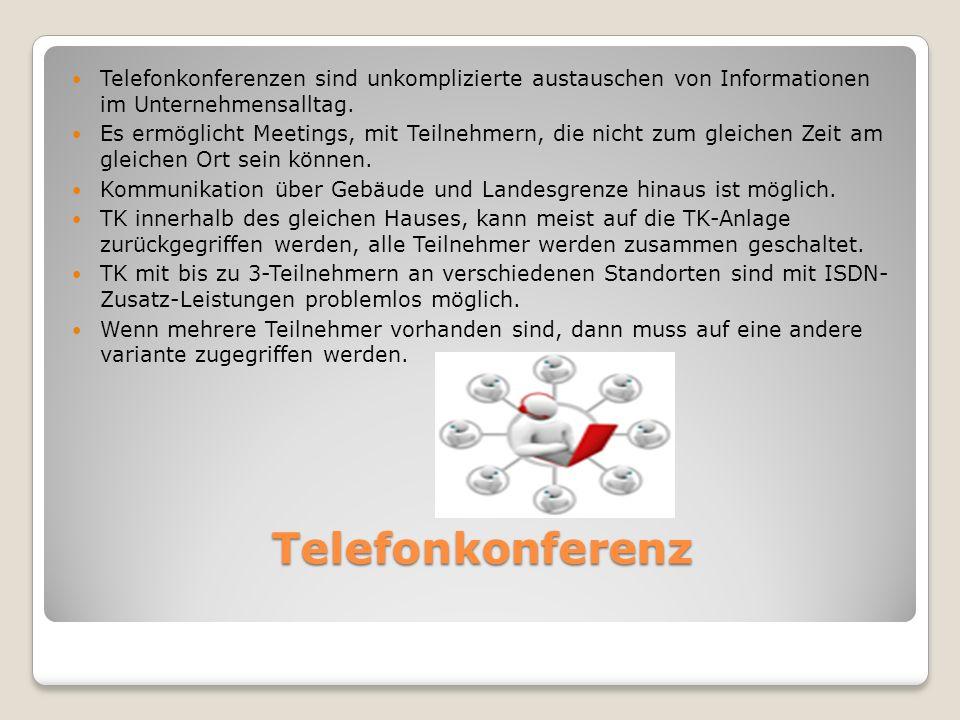 Telefonkonferenz Telefonkonferenzen sind unkomplizierte austauschen von Informationen im Unternehmensalltag.