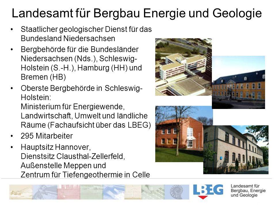 Landesamt für Bergbau Energie und Geologie Staatlicher geologischer Dienst für das Bundesland Niedersachsen Bergbehörde für die Bundesländer Niedersac