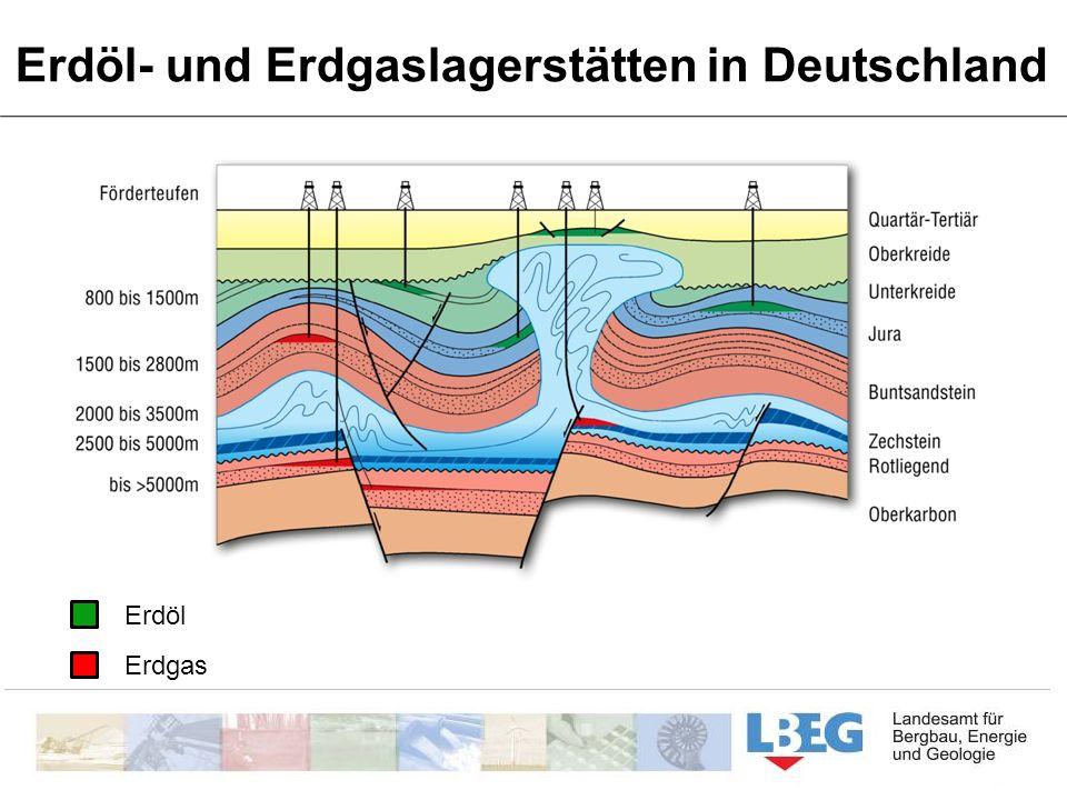 Erdöl- und Erdgaslagerstätten in Deutschland Erdöl Erdgas