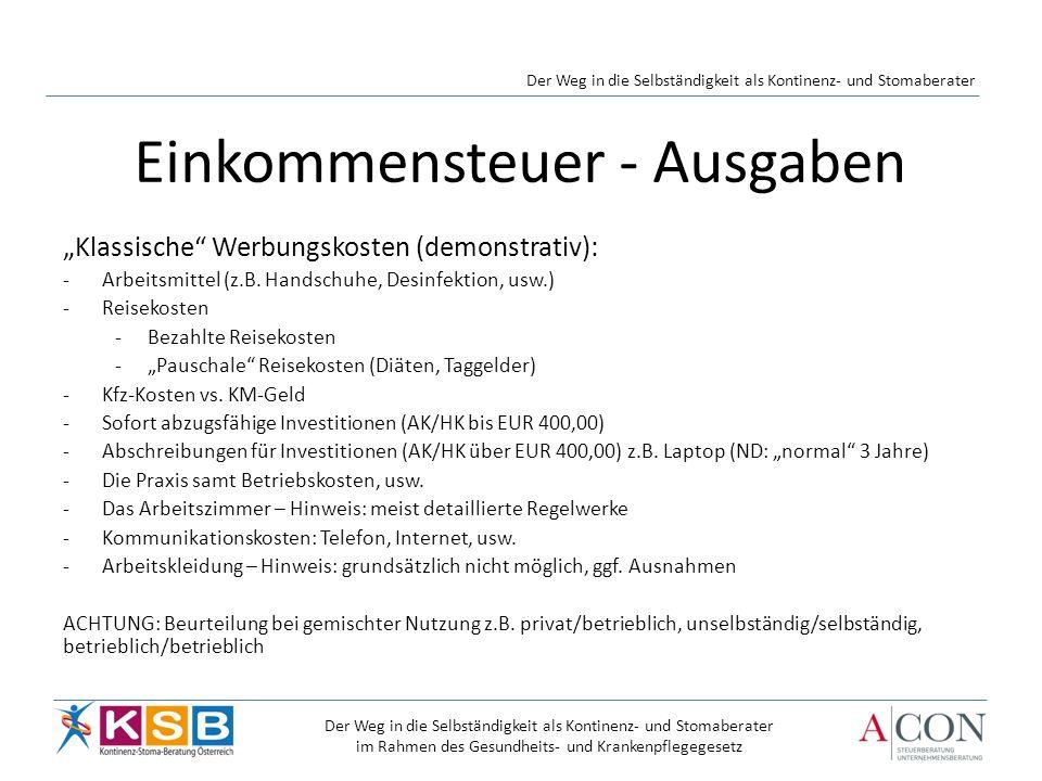Klassische Werbungskosten (demonstrativ): -Arbeitsmittel (z.B.