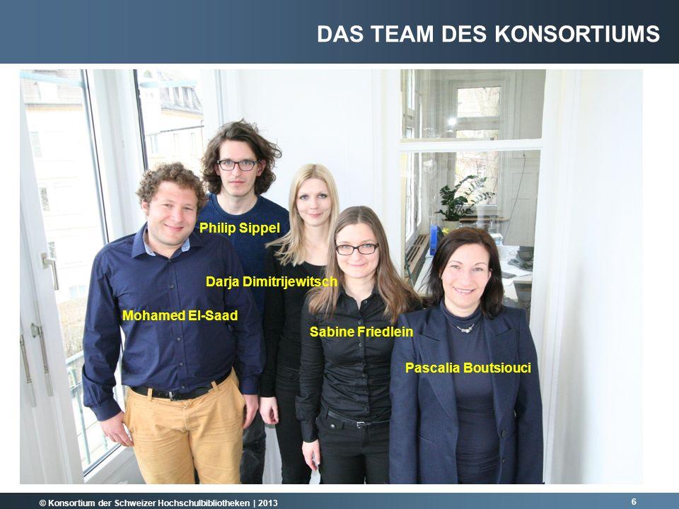 © Konsortium der Schweizer Hochschulbibliotheken | 2013 Konsortien der Forschungsinstitutione n (z.B.