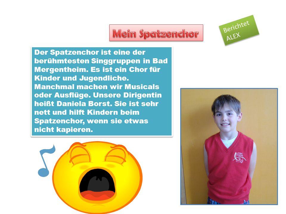 Der Spatzenchor ist eine der berühmtesten Singgruppen in Bad Mergentheim. Es ist ein Chor für Kinder und Jugendliche. Manchmal machen wir Musicals ode