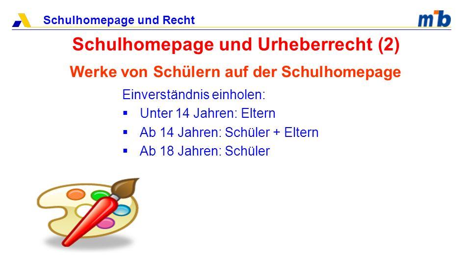 Schulhomepage und Recht Schulhomepage und Urheberrecht (3) Vorsicht bei Links.