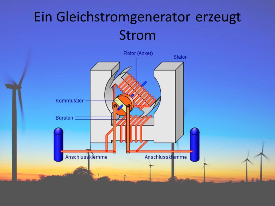 Ein Gleichstromgenerator erzeugt Strom