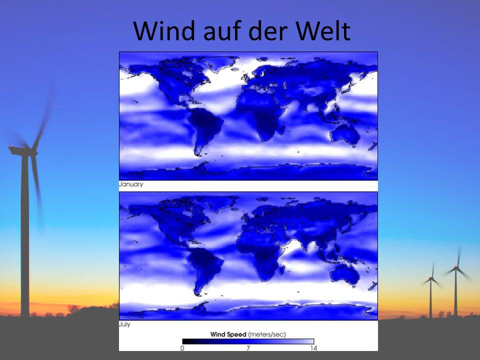 Wind auf der Welt