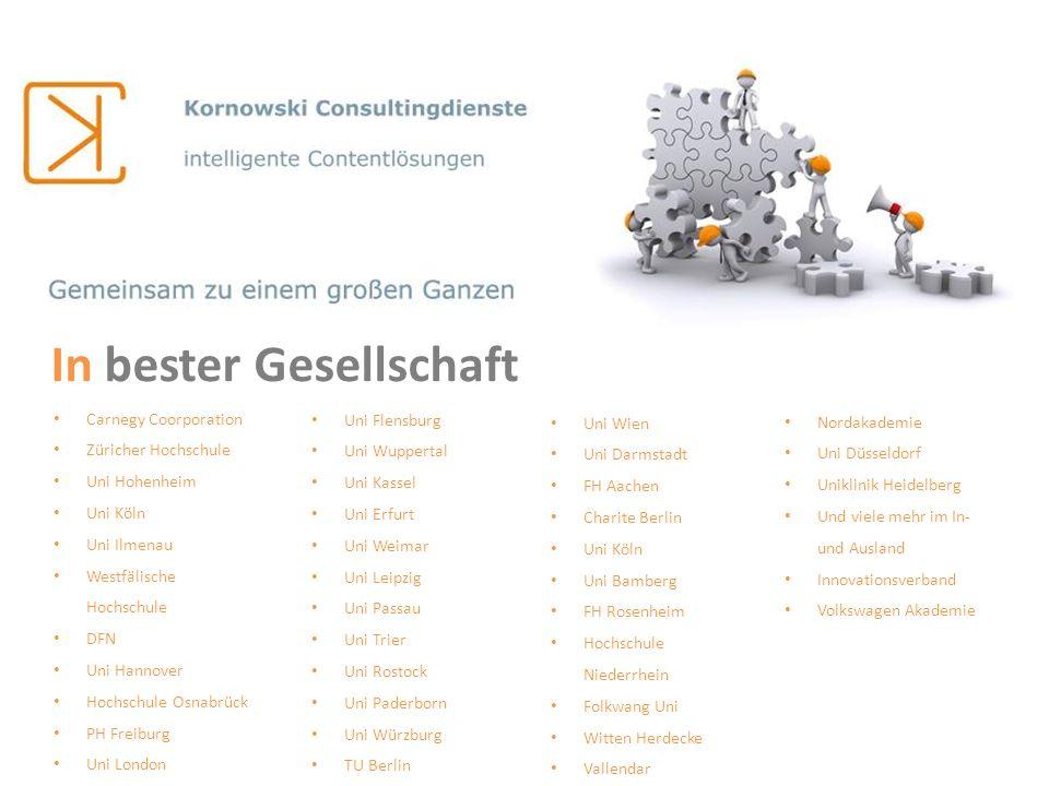 Carnegy Coorporation Züricher Hochschule Uni Hohenheim Uni Köln Uni Ilmenau Westfälische Hochschule DFN Uni Hannover Hochschule Osnabrück PH Freiburg