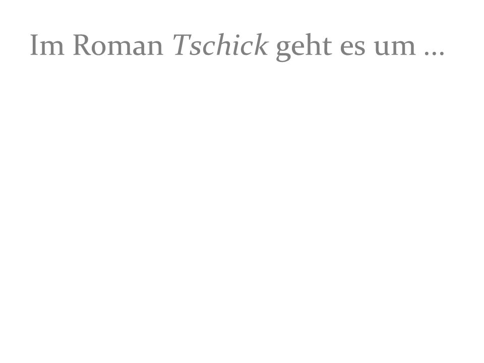 Im Roman Tschick geht es um...