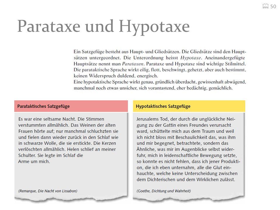 Parataxe und Hypotaxe 50