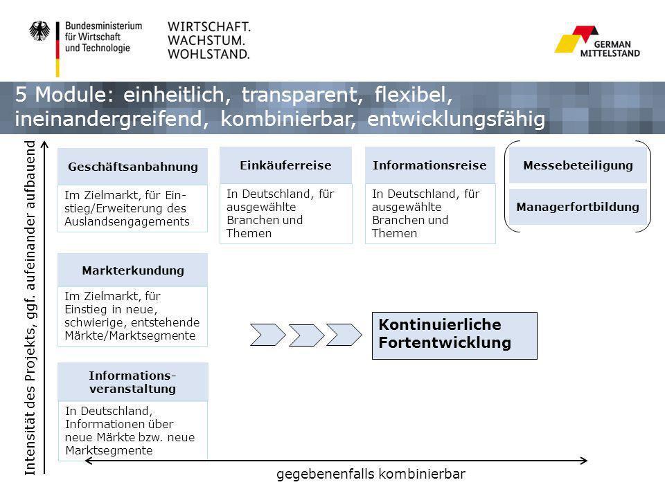 Managerfortbildung Messebeteiligung Informations- veranstaltung Markterkundung Geschäftsanbahnung Kontinuierliche Fortentwicklung Im Zielmarkt, für Ei