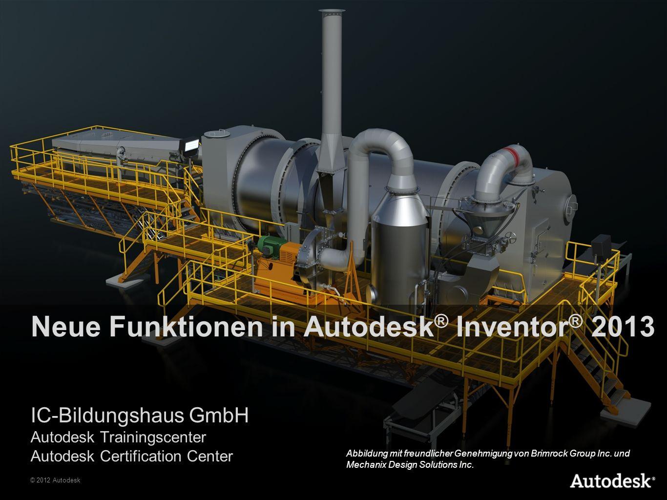 © 2012 Autodesk Die Autodesk ® Product Design Suite ist eine umfassende, kosteneffiziente Lösung für Konstrukteure und Ingenieure, die mit der Entwicklung innovativer Produkte betraut sind.