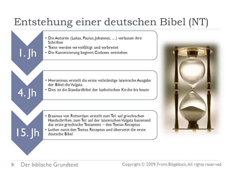 Was ist der Grundtext? Es gibt nicht DEN griechischen oder hebräischen Urtext (Grundtext) Als Grundtext könnte man die Sammlung aller griechischen und