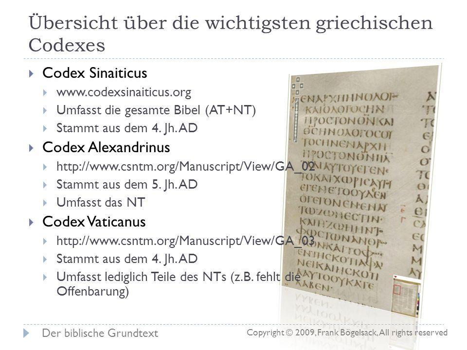 Entstehung einer deutschen Bibel (NT) 1. Jh Die Autoren (Lukas, Paulus, Johannes, …) verfassen ihre Schriften Texte werden vervielfältigt und verbreit