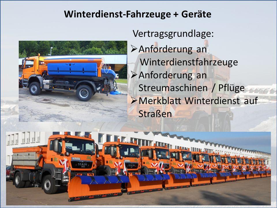 11 Winterdienst-Fahrzeuge + Geräte Anforderung an Winterdienstfahrzeuge Anforderung an Streumaschinen / Pflüge Merkblatt Winterdienst auf Straßen Vert