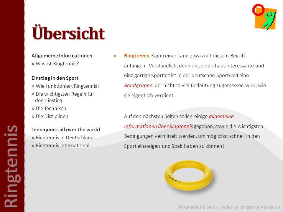 Allgemeine Informationen: Was ist Ringtennis.
