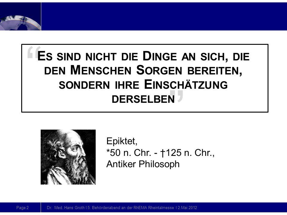 Page 2 Dr. Med. Hans Groth l 5. Behördenabend an der RhEMA Rheintalmesse l 2.Mai 2012 Folienmitte (ohne Action-title) Folienmitte (mit Action-title) F
