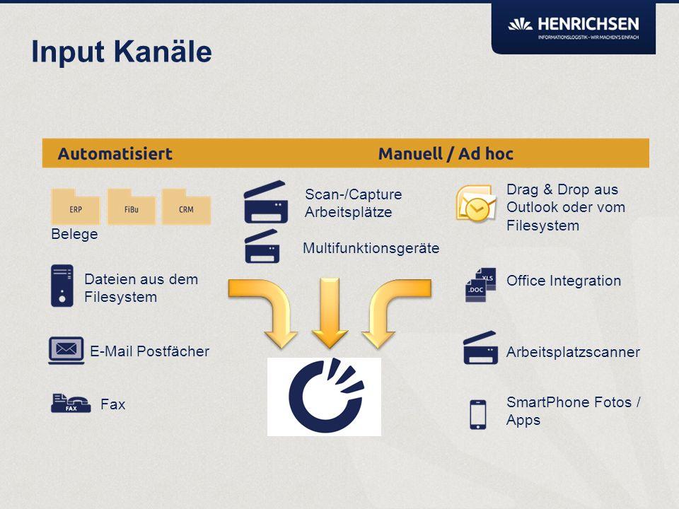 Dokumente in die digitale Akte zu bringen soll so einfach wie möglich sein. Wir wollen vermeiden, dass ein ECM Client gestartet sein muss um ein Dokum