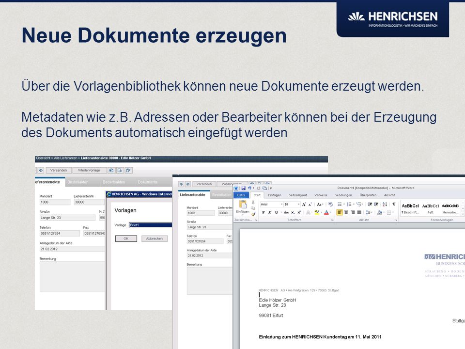 Über die Monitorfunktion kann die Bearbeitungshistorie von Akten und Dokumenten eingesehen werden. Transparenz