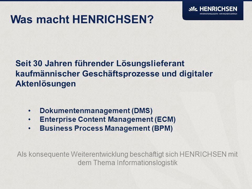 Kurze Vorstellung der HENRICHSEN AG Andreas Schneider, Leiter Geschäftsbereich DMS Solutions