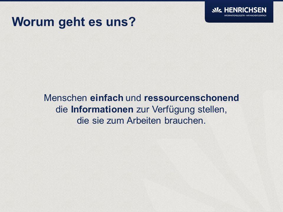 Records Management und digitale Akte aus Sicht der HENRICHSEN AG