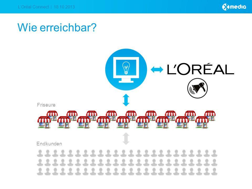 LOréal Connect | 18.10.2013 Wie erreichbar Friseure Endkunden