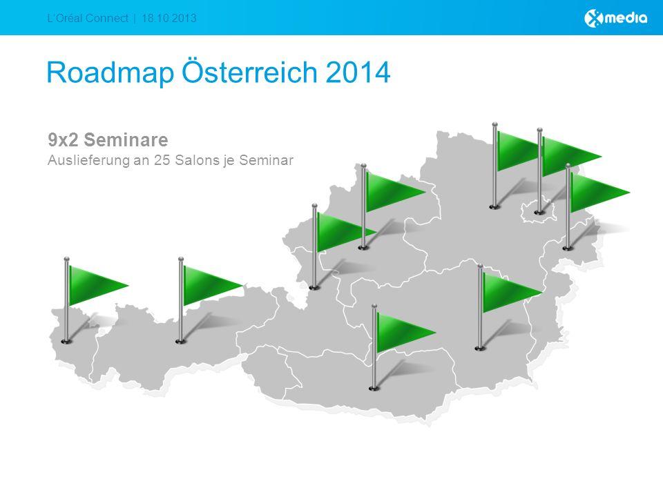 LOréal Connect | 18.10.2013 Roadmap Österreich 2014 9x2 Seminare Auslieferung an 25 Salons je Seminar