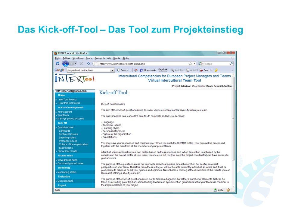 Das Kick-off-Tool – Das Tool zum Projekteinstieg