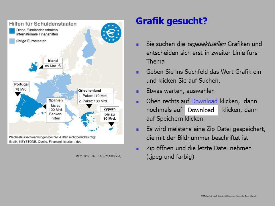 Grafik gesucht? Mittelschul- und Berufsbildungsamt des Kantons Zürich Sie suchen die tagesaktuellen Grafiken und entscheiden sich erst in zweiter Lini