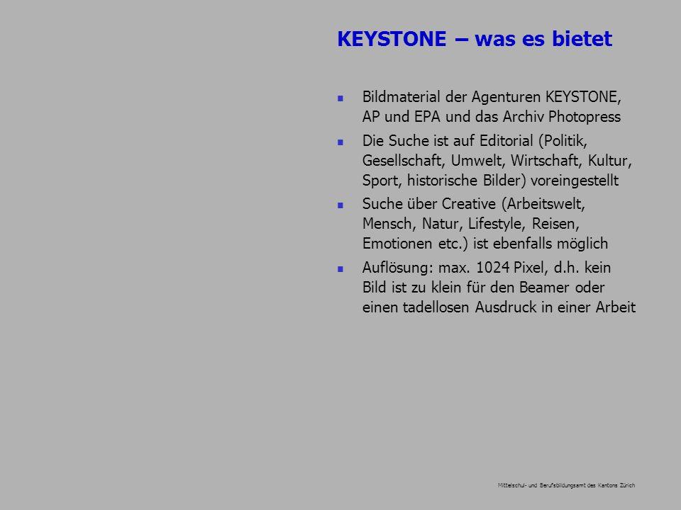 Mittelschul- und Berufsbildungsamt des Kantons Zürich Bildmaterial der Agenturen KEYSTONE, AP und EPA und das Archiv Photopress Die Suche ist auf Edit