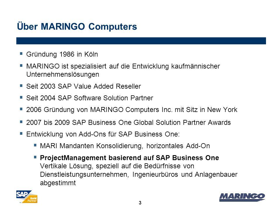3 Gründung 1986 in Köln MARINGO ist spezialisiert auf die Entwicklung kaufmännischer Unternehmenslösungen Seit 2003 SAP Value Added Reseller Seit 2004