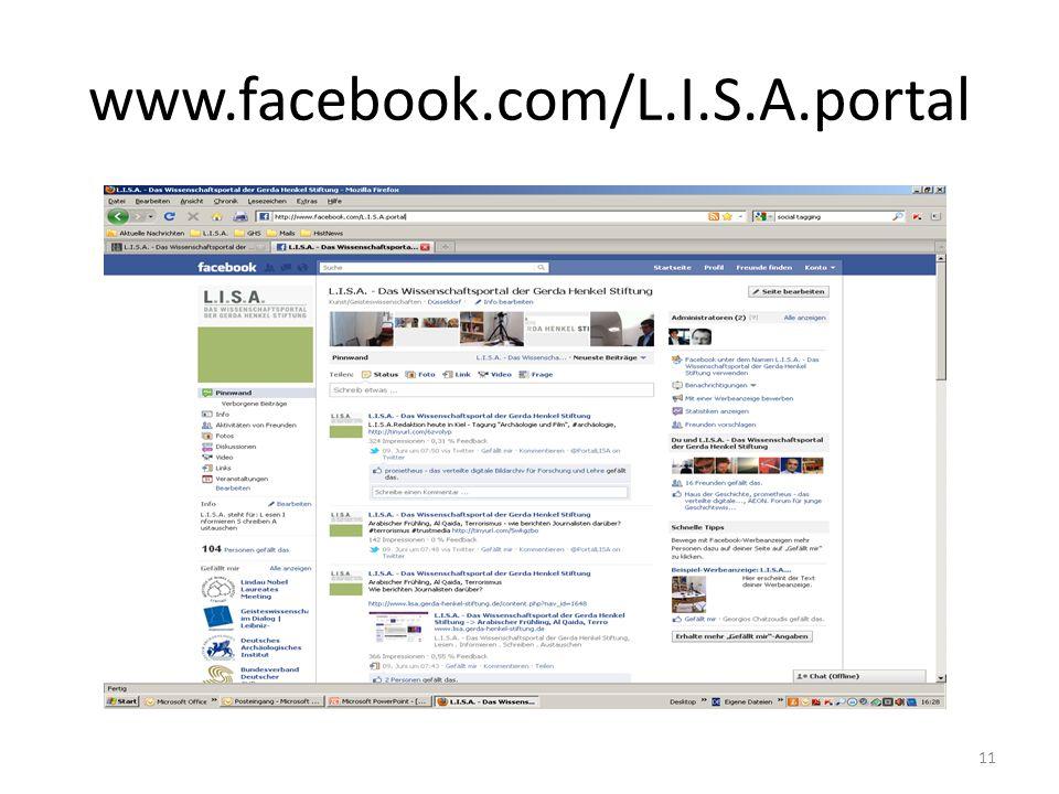 www.facebook.com/L.I.S.A.portal 11