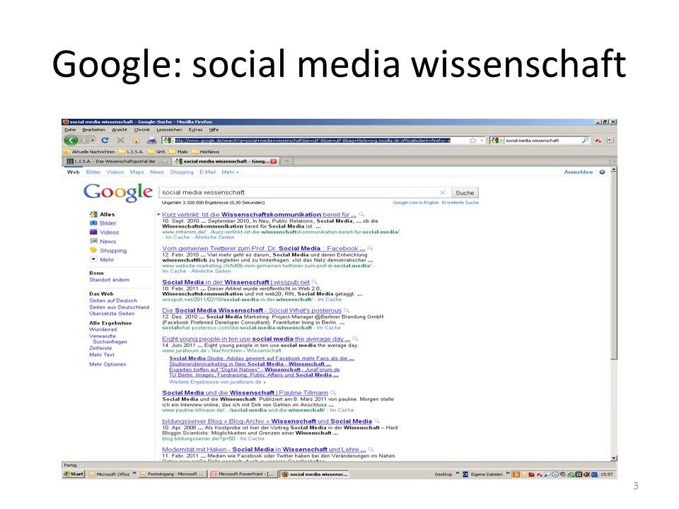 Google: social media wissenschaft 3