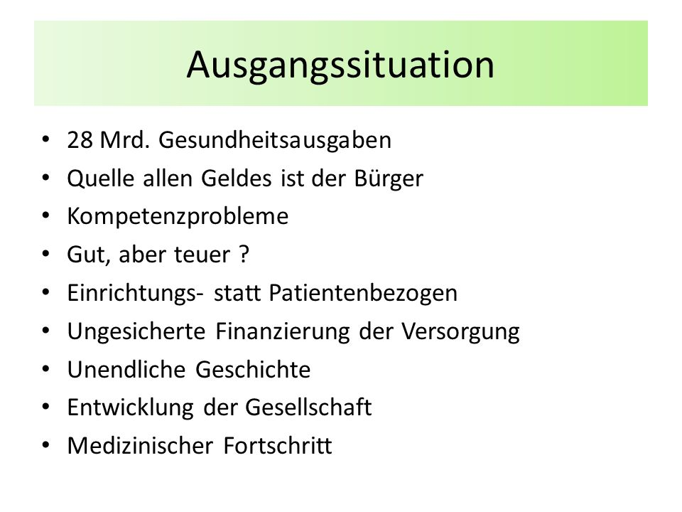 Ausgangssituation 28 Mrd.