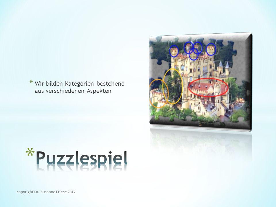 * Wir bilden Kategorien bestehend aus verschiedenen Aspekten copyright Dr. Susanne Friese 2012