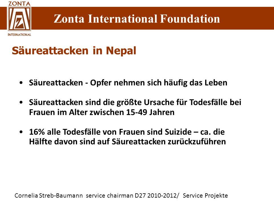 Cornelia Streb-Baumann service chairman D27 2010-2012/ Service Projekte Zonta International Foundation Säureattacken in Nepal Säureattacken - Opfer ne