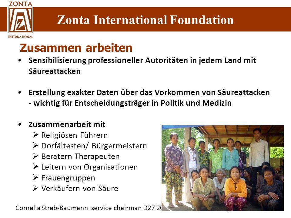Cornelia Streb-Baumann service chairman D27 2010-2012/ Service Projekte Zonta International Foundation Sensibilisierung professioneller Autoritäten in