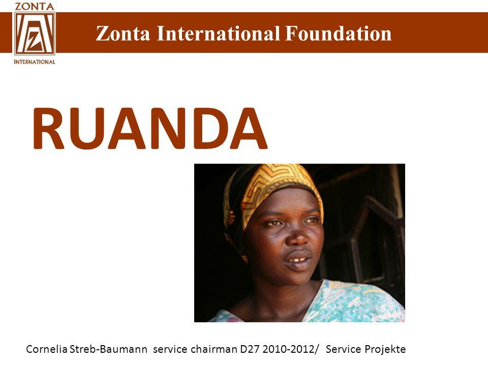 Cornelia Streb-Baumann service chairman D27 2010-2012/ Service Projekte Zonta International Foundation RUANDA