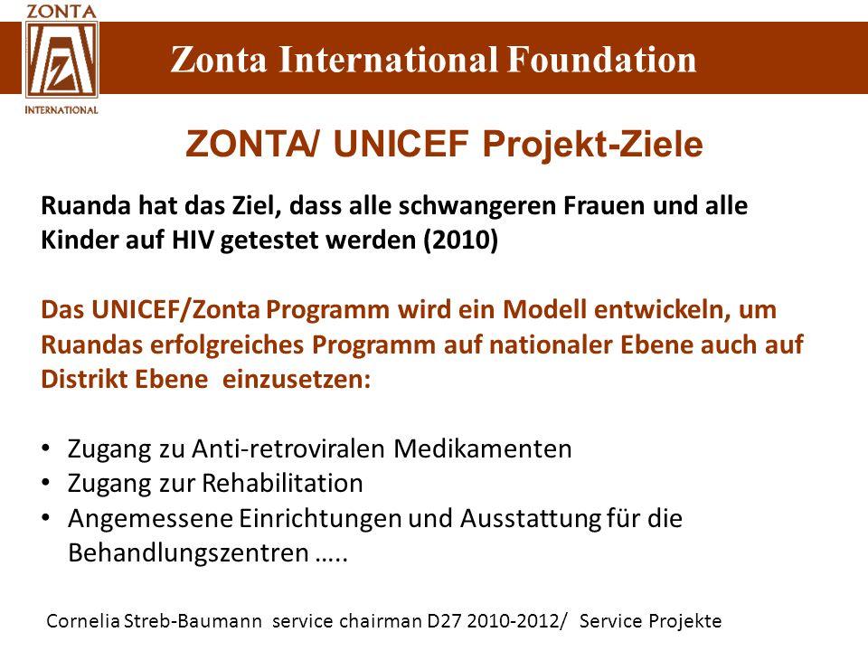 Zonta International Foundation Cornelia Streb-Baumann service chairman D27 2010-2012/ Service Projekte Zonta International Foundation Ruanda hat das Z