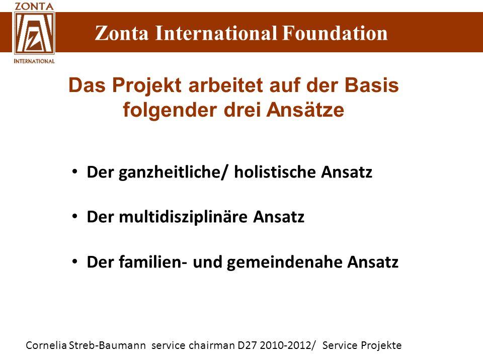 Zonta International Foundation Cornelia Streb-Baumann service chairman D27 2010-2012/ Service Projekte Zonta International Foundation Der ganzheitlich