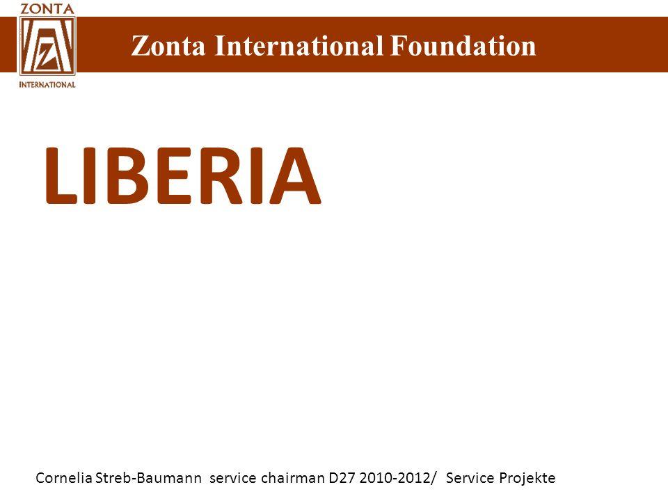 Cornelia Streb-Baumann service chairman D27 2010-2012/ Service Projekte Zonta International Foundation LIBERIA