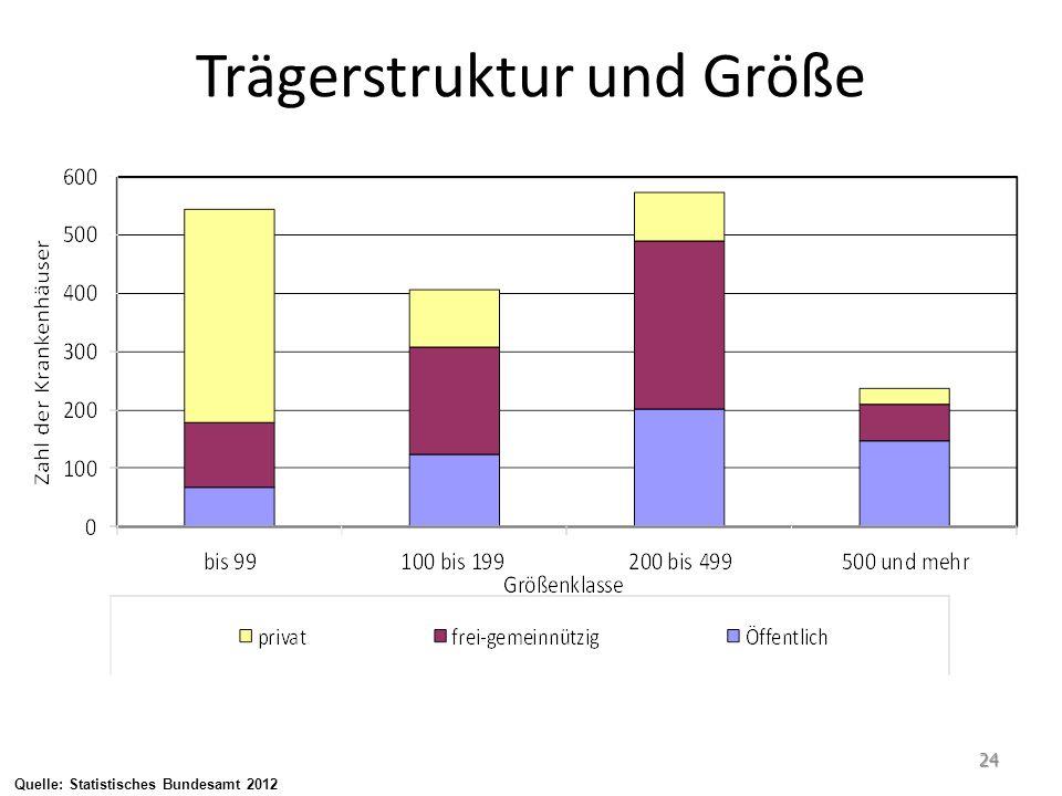 Quelle: Statistisches Bundesamt 2012 Trägerstruktur und Größe 24