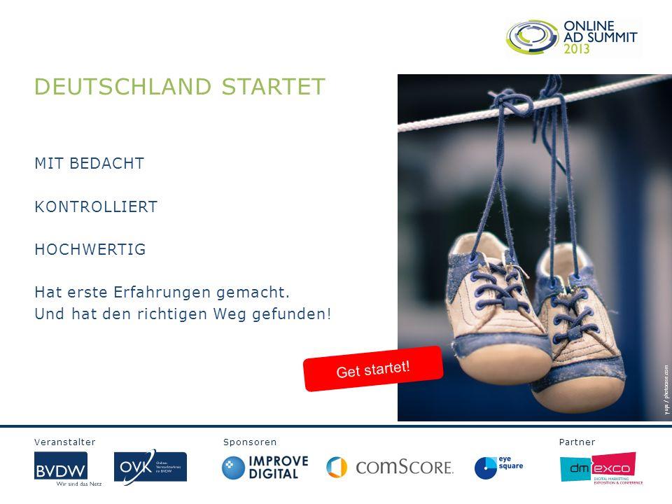 Veranstalter Sponsoren Partner DEUTSCHLAND STARTET Get startet.