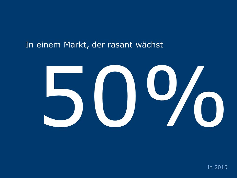 Veranstalter Sponsoren Partner 50% in 2015 In einem Markt, der rasant wächst