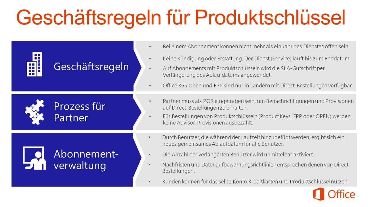 Partner muss als POR eingetragen sein, um Benachrichtigungen und Provisionen auf Direct-Bestellungen zu erhalten.